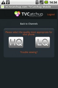 TVcatchup viewing options
